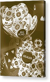 Poker Chips Acrylic Prints