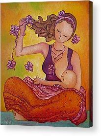 Mums Paintings Acrylic Prints