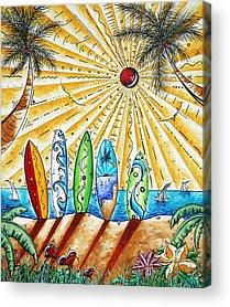 Tropical Sunset Acrylic Prints