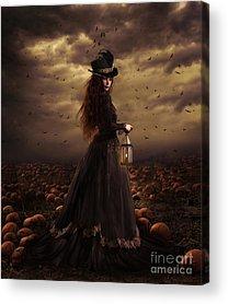 Gothic Crows Acrylic Prints