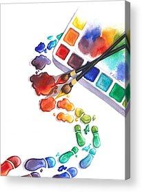 Bright Watercolor Acrylic Prints