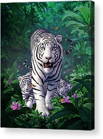 Tiger Digital Art Acrylic Prints