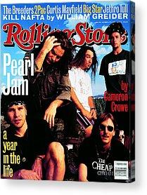 Pearl Jam Photographs Acrylic Prints