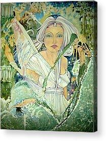 Angel Mermaids Ocean Drawings Acrylic Prints