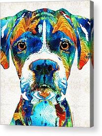 Boxer Paintings Acrylic Prints