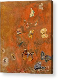 Fluttering Paintings Acrylic Prints
