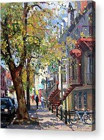 Montreal Street Scene Acrylic Prints