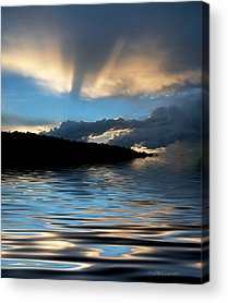 Reflections Of Sun In Water Acrylic Prints