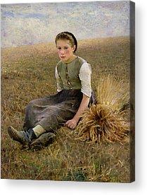 The Shepherdess Acrylic Prints