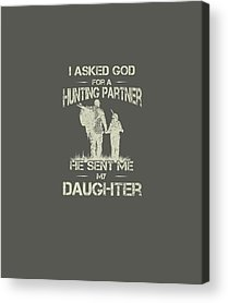 Father And Daughter Digital Art Acrylic Prints