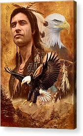 Native American Spirit Portrait Photographs Acrylic Prints