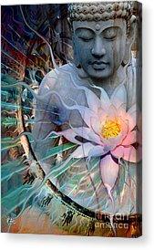 Modern Buddhist Art Acrylic Prints