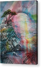 Spiritual Landscape Representing Two Souls Connected Acrylic Prints