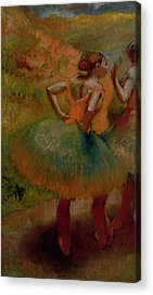 Dancers Wearing Green Skirts Acrylic Prints
