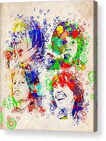 Art Paul Mccartney Rock N Roll Acrylic Prints