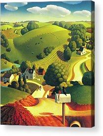Farms Acrylic Prints