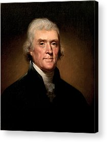 Thomas Jefferson Paintings Acrylic Prints