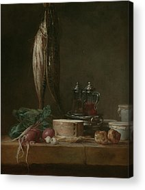 Still Life With Fish Paintings Acrylic Prints