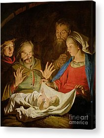 Birth Of Christ Acrylic Prints