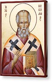 St Nicholas Of Myra Acrylic Prints