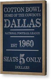 Dallas Cowboys Acrylic Prints