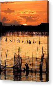 Wade Fishing Acrylic Prints
