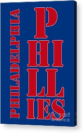 Philadelphia Phillies Stadium Digital Art Acrylic Prints