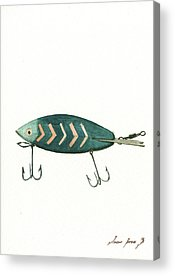 Antique Fishing Lures Acrylic Prints