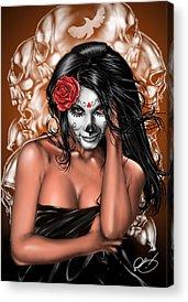 Pinup Girl Acrylic Prints