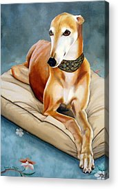 Dog Race Track Paintings Acrylic Prints