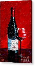 Wine Reflection Paintings Acrylic Prints
