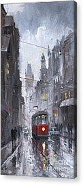 Raining Paintings Acrylic Prints