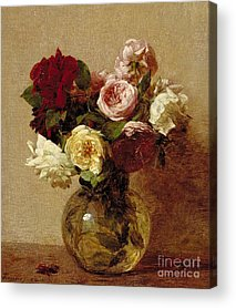 Floral Still Life Paintings Acrylic Prints