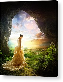 Woman Cave Acrylic Prints