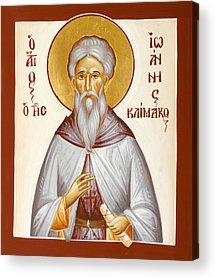 St John Climacus Paintings Acrylic Prints