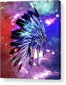Feather Stars Acrylic Prints