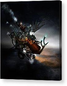 Gear Digital Art Acrylic Prints