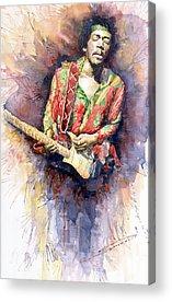 Rock Jimi Hendrix Music Acrylic Prints