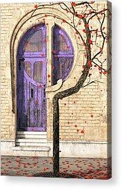 Door Digital Art Acrylic Prints