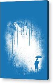 Blue Umbrella Acrylic Prints