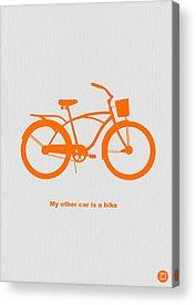 Bicyclist Acrylic Prints