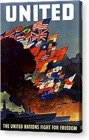 United States Propaganda Acrylic Prints