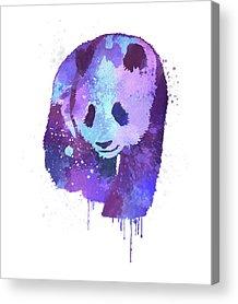 Splashy Digital Art Acrylic Prints