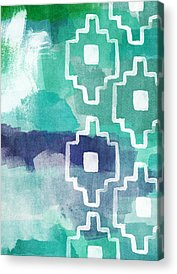 Green Abstract Art Acrylic Prints