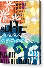 California Beach Art Acrylic Prints