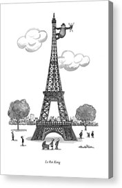 Eiffel Tower Drawings Acrylic Prints