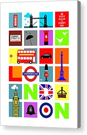 London Tube Acrylic Prints