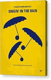 City Rain Acrylic Prints