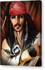Orlando Bloom Acrylic Prints