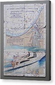 Noaa Chart Acrylic Prints